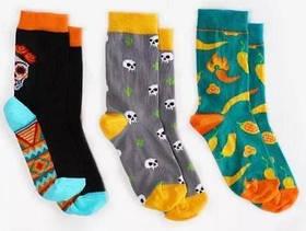 Шкарпетки дитячі Dodo Socks Mexicana 2-3 роки, набір 3 пари