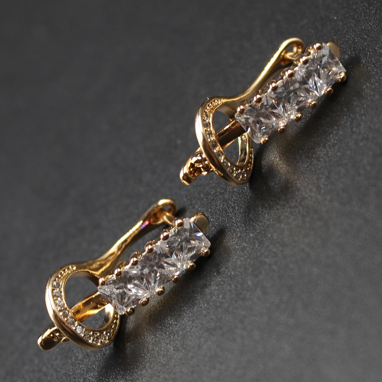 """Серьги женские """"Aristide"""" Xuping Jewelry (позолота)."""
