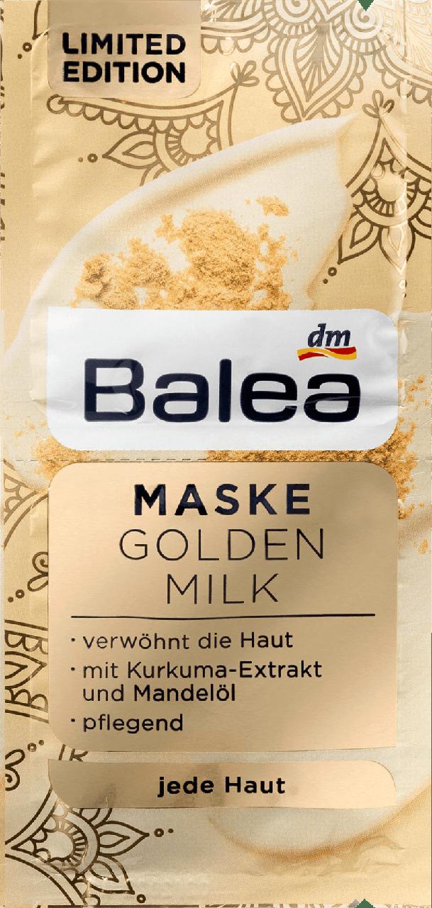 Питательная маска для лица Balea Maske Golden Milk, 2st. х 8 ml.