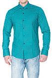 Рубашка мужская G 1276002 в клетку зеленая, фото 8