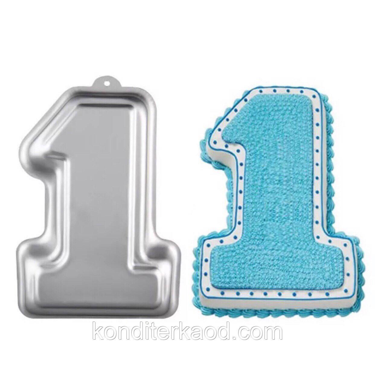 Форма для выпечки Цифра 1 (метал)