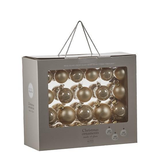 """Елочные шарики 42 шт., """"House of Seasons"""" комплект, цвет золотистый"""