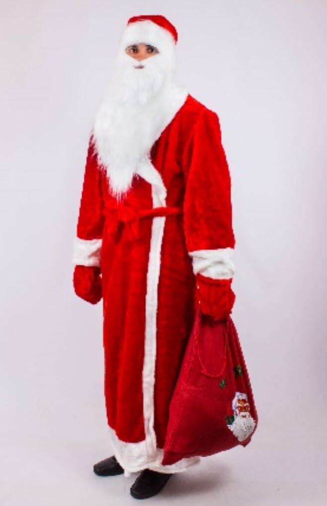 Костюм Деда Мороза красный, синий 52-54
