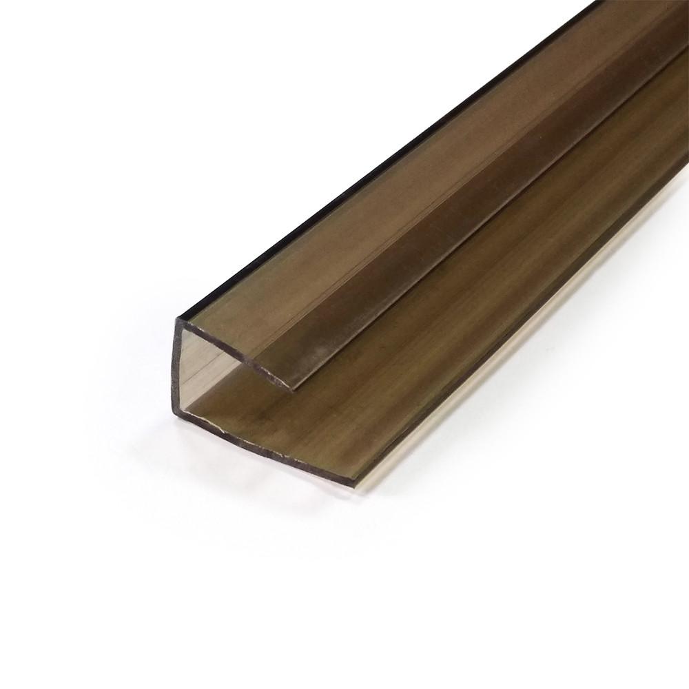 Профиль поликарбонатный бронза 10 мм торц., 2,1 м