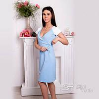 Ночная сорочка для беременных и кормящих мам 205-01-6 (голубой)