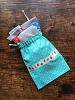 Праздничные мешочки для подарков, новогодняя упаковка, хлопковый мешочек многоразовый подарочный 15х20см