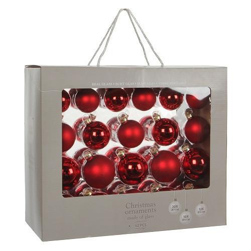 """Елочные шарики 42 шт., """"House of Seasons"""" комплект, цвет красный"""