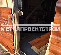 Панель для фасада, металический Блок Хаус и Корабельная доска, фото 1