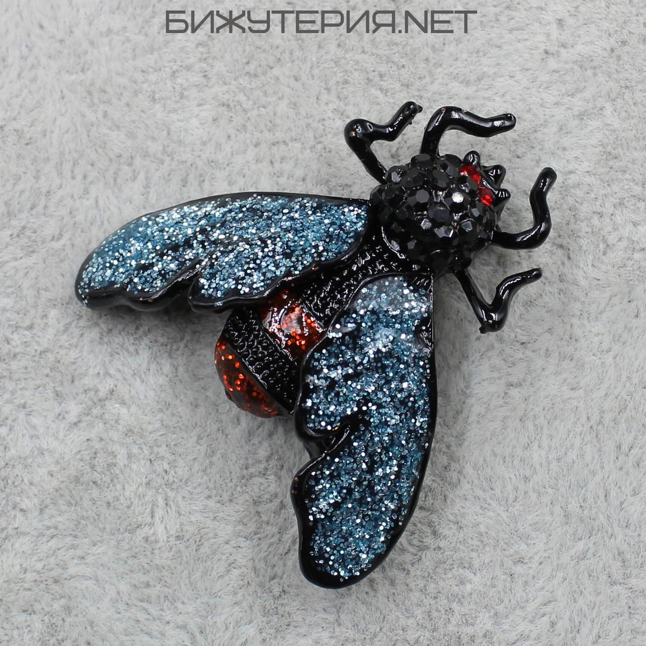 Брошь в виде насекомого JB, с цветными камнями   - 1040605112