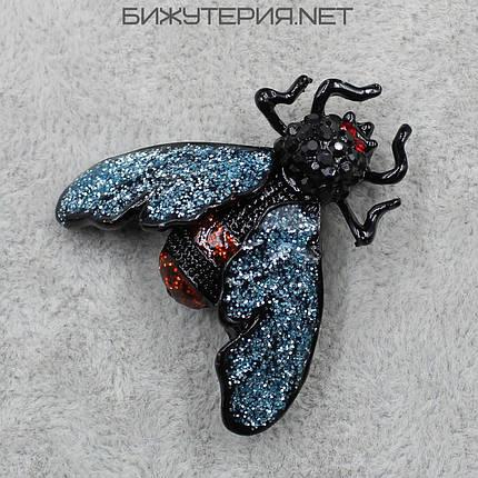 Брошь в виде насекомого JB, с цветными камнями   - 1040605112, фото 2