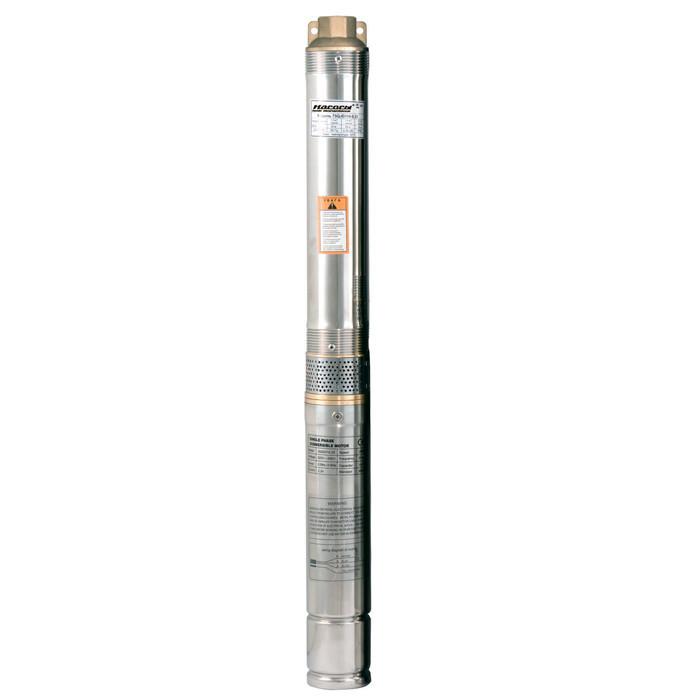 Скважинный насос Насосы+Оборудование 75QJD110-0.25 + пульт управления + кабель 10м напор 38м, 460 Вт