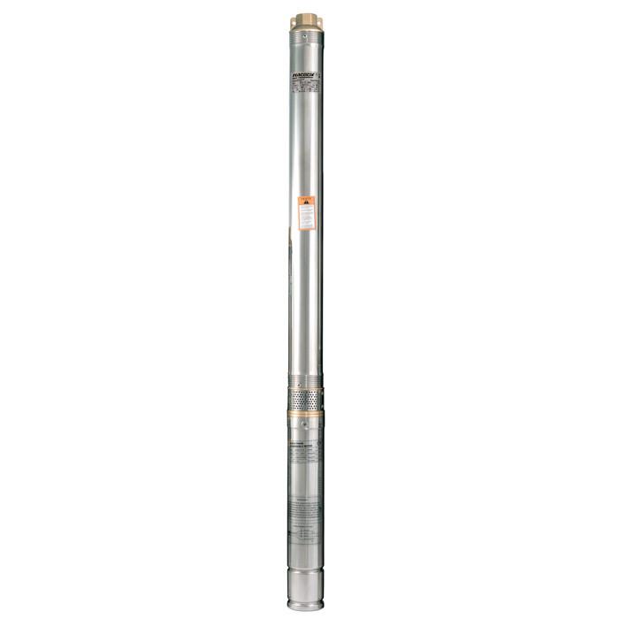Скважинный насос Насосы+  75QJD140-1.1 + пульт управления + кабель 10м напор 144м, 1,45 кВт