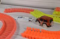 Гибкий трек - 220 деталей (Magic Track: светящаяся дорога с 1 машинка Меджик Трекс), фото 7