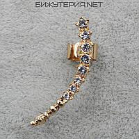Серьги Каффы JB в золотом цвете с кристаллами  - 1064824509