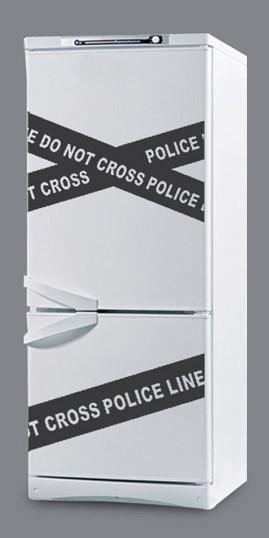 """Наклейка для кухні на холодильник """"Dont cross"""""""