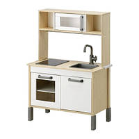 IKEA ДУКТИГ Детская кухня, березовая фанера, белый