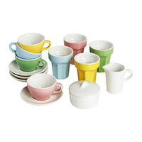"""IKEA """"ДУКТИГ"""" Набор для кофе/чая, 10 прдм, разноцветный"""