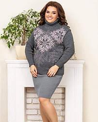 Теплий светр зі сніжинками «Казка»