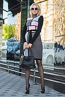 Женское теплое вязанное платье миди в 5 цветах в наличии
