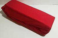 Красная простынь на резинке  Евро 200*200, 220  Хлопок