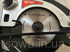 ✔️ Дисковая пила  Euro Craft CS214  ( 1850Вт, 185мм ), фото 3