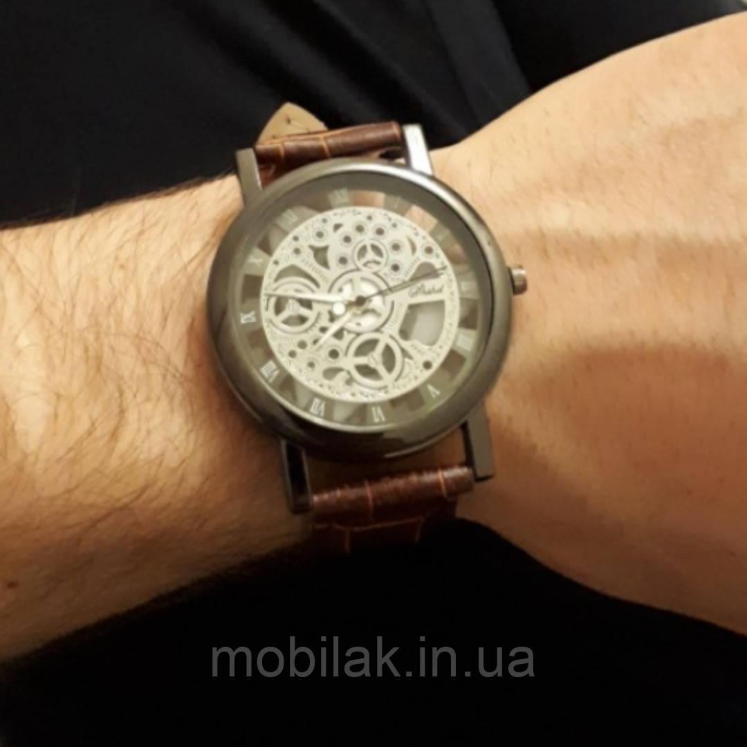 Мужские часы SPRAOI с кожаным ремешком