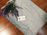 Велюровое покрывало на кровать, размер 220-240 см цвет нежно голубой