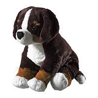 """IKEA """"ХОППИГ"""" Мягкая игрушка, собака черный, белый"""