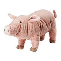 """IKEA """"КНОРРИГ"""" Мягкая игрушка, поросенок, розовый"""
