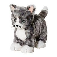 "IKEA ""ЛИЛЛЕПЛУТТ"" Мягкая игрушка, кот серый, белый"