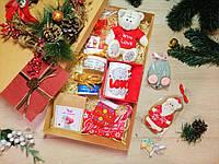 """Большой новогодний подарочный набор """"Happy Teddy""""  с именным поздравительным письмом"""