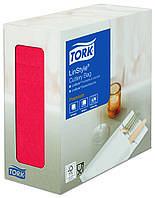 Нетканые конверты для столовых приборов Tork Linstyle красные 477232