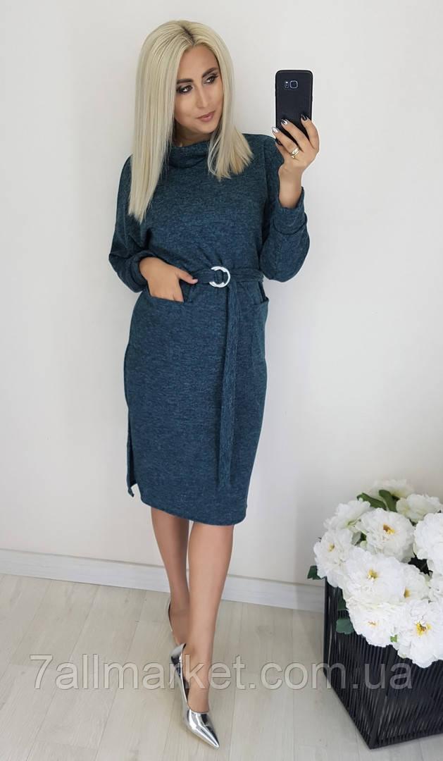 """Платье женское полубатальное  ангоровое, размеры 48-54 (3цв) """"LYUBAVA"""" купить недорого от прямого поставщика"""
