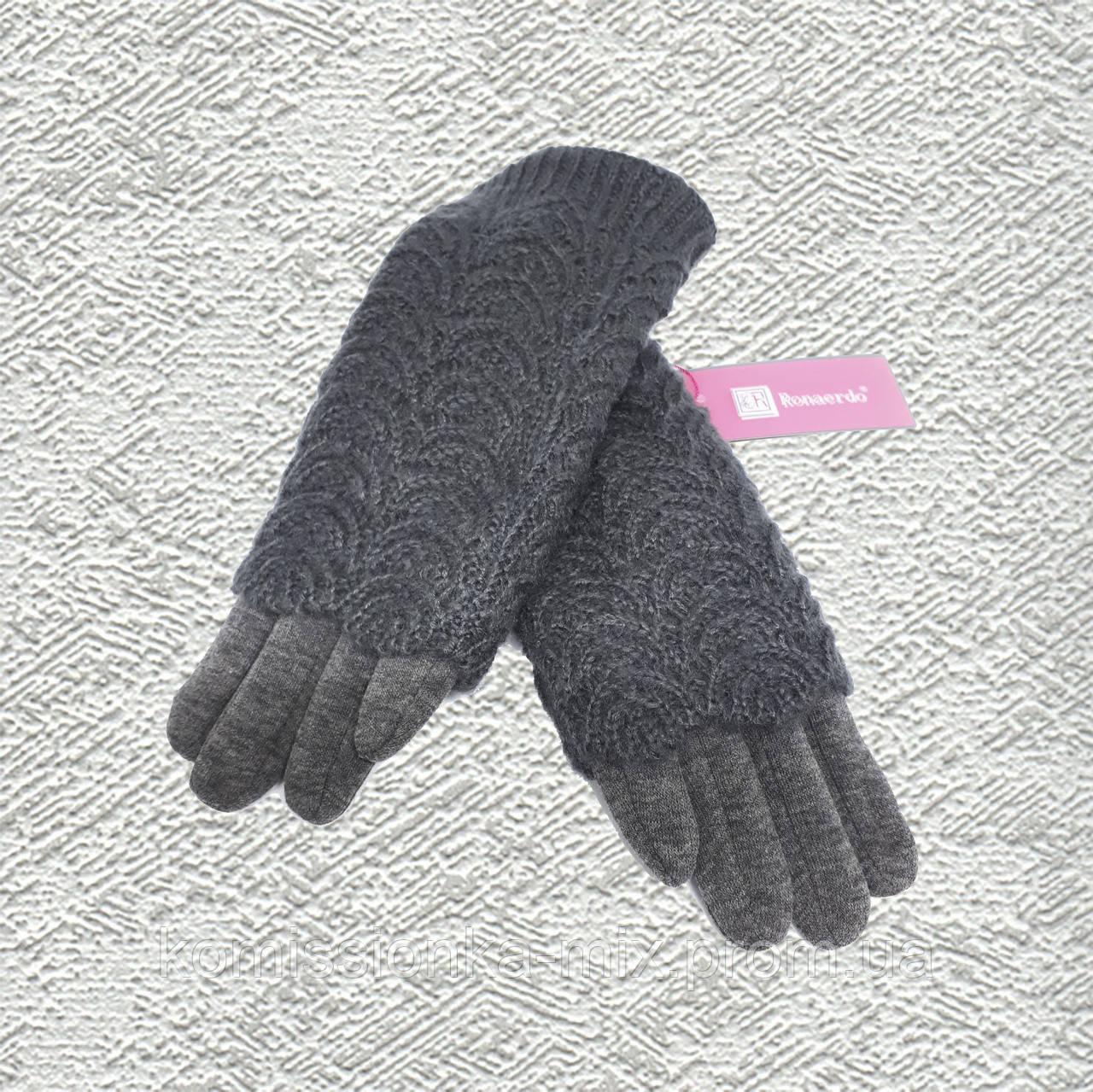 Перчатки женские шерстяные с митенкой и сенсором
