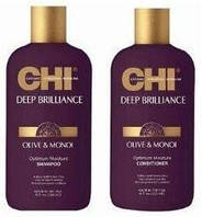 Набір CHI Deep Brilliance Olive & Monoi Шампунь, Кондиціонер