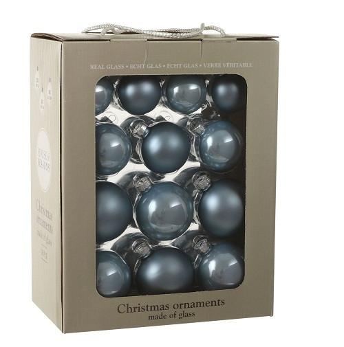 """Елочные шарики 26 шт., """"House of Seasons"""" комплект, цвет синий"""