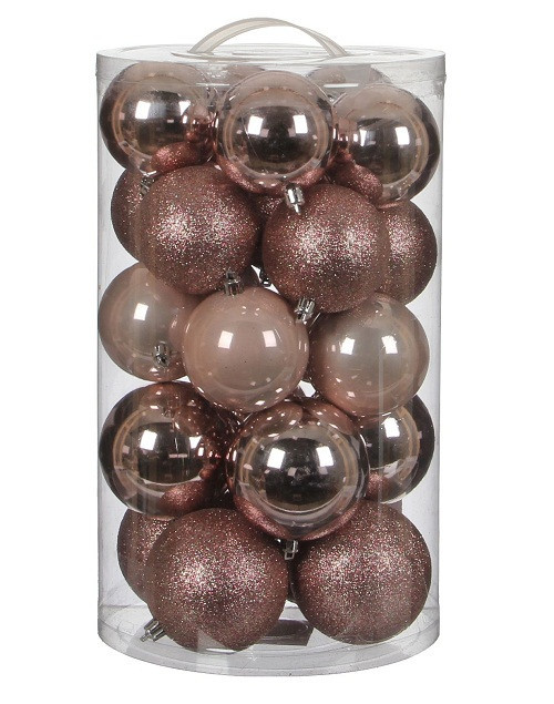 """Ялинкові кульки """"House of Seasons"""" комплект 23 шт, колір рожевий"""