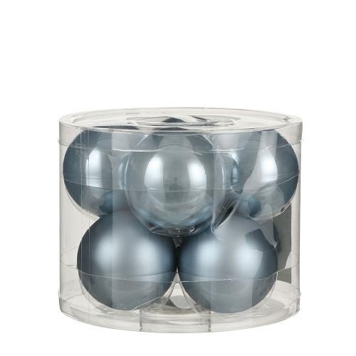 """Ялинкові кульки """"House of Seasons"""" комплект 8 шт, колір синій"""