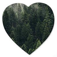 Магнитный пазл в форме сердца - Аромат леса 190х190 мм
