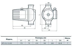 Циркуляционный насос Насосы+Оборудование BPS 32-12-220, фото 3