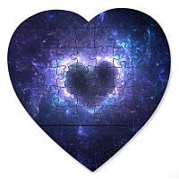 Пазл в форме сердца - Магнитный пазл Космическое сердце 190х190 мм