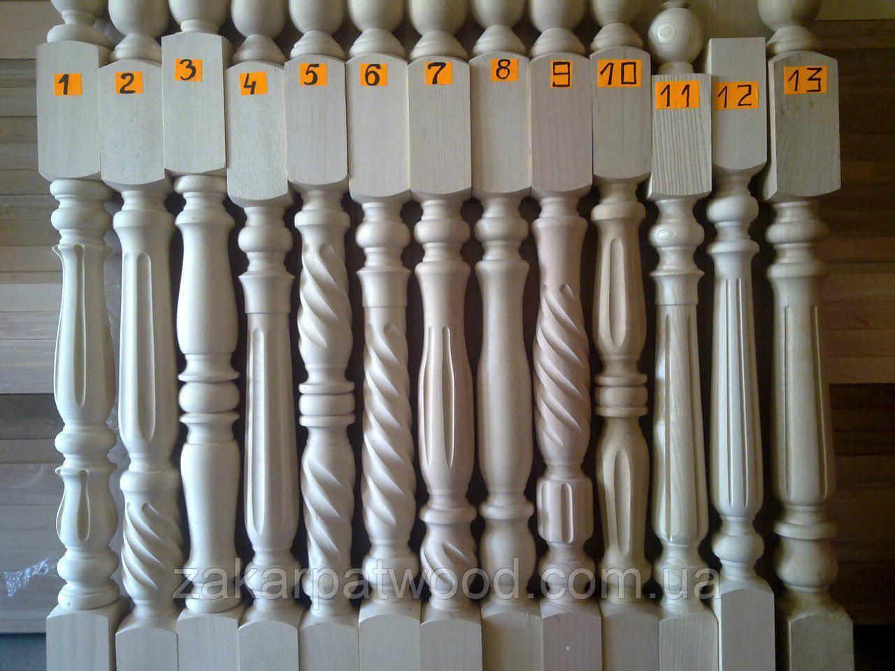 Стовпи на сходи (бук) МІКС 1100х80х80мм