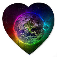 Магнитный пазл в форме сердца - Магия планет 190х190 мм