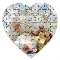 Магнитный пазл в форме сердца - Милые крысята 190х190 мм
