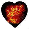 Магнітний пазл у формі серця - Колір полум'я 190х190 мм