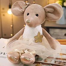 Іграшка м'яка мишка-балерина