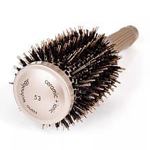 Керамико алюминиевая, профессиональная расческа для волос круглая