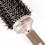 Керамико алюминиевая, профессиональная расческа для волос круглая, фото 3