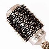 Керамико алюминиевая, профессиональная расческа для волос круглая, фото 4
