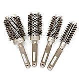 Керамико алюминиевая, профессиональная расческа для волос круглая, фото 6